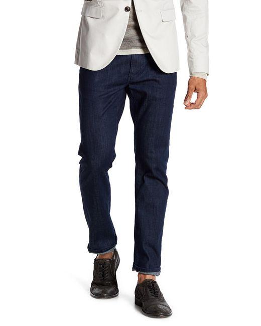 John Varvatos - Blue Bowery Slim Straight Leg Jeans for Men - Lyst