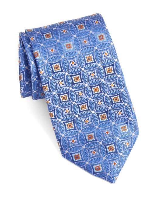 John W. Nordstrom | Blue Strode Medallion Woven Silk Tie for Men | Lyst