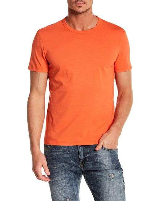 Jack Spade - Orange Crew Neck Tee for Men - Lyst