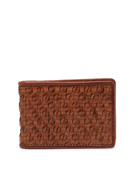 Tommy Bahama - Brown Basket Woven Leather Bifold Wallet for Men - Lyst