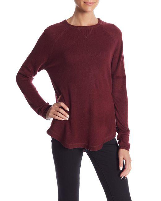 Sweet Romeo - Purple Solid Raglan Sweater - Lyst