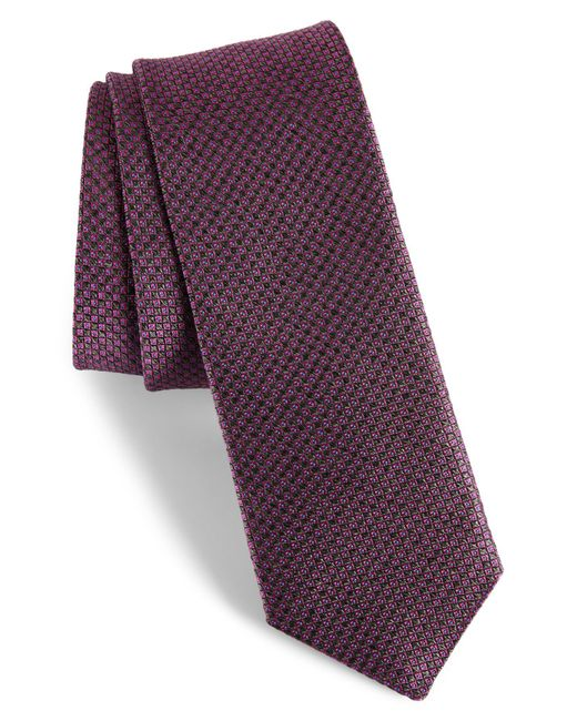 Ted Baker - Pink Geometric Silk Tie for Men - Lyst