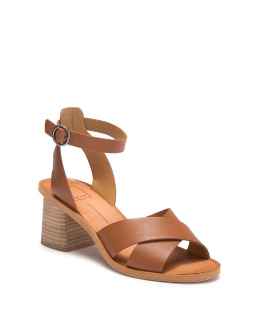 cf3395f54f8 Dolce Vita - Brown Rayna Stacked Sandal - Lyst ...