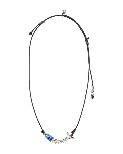 Uno De 50 | Blue Fished Murano Glass Leather Necklace | Lyst