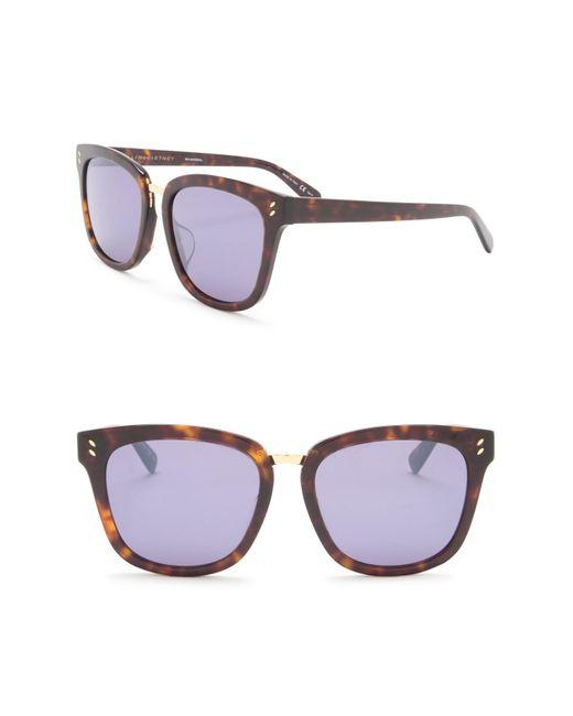 b2d48d5595 Stella McCartney - Multicolor Oversized 56mm Sunglasses - Lyst ...