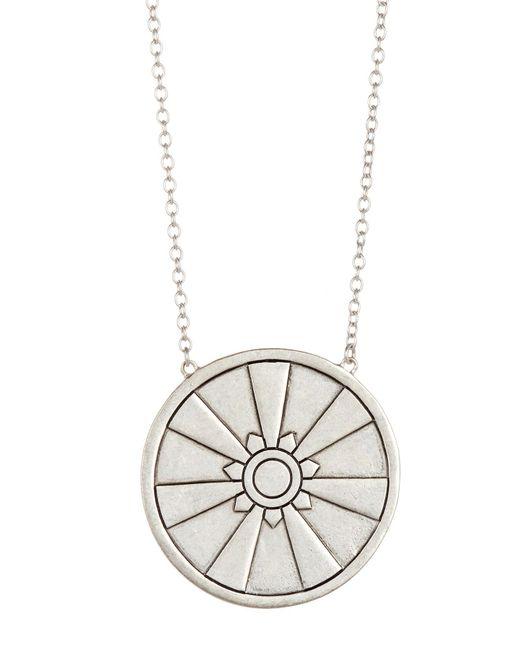 The Sak - Metallic Etched Pendant Bib Necklace - Lyst