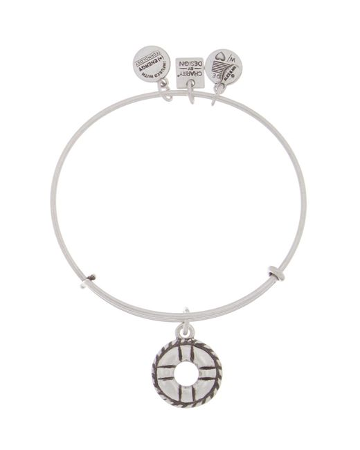 ALEX AND ANI - Metallic Charity By Design Life Preserver Expandable Wire Bracelet - Lyst