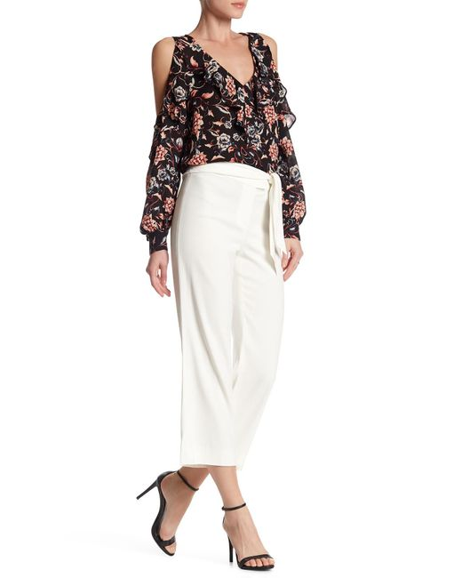 Veronica Beard | White Imperial Cropped Tie Waist Pant | Lyst