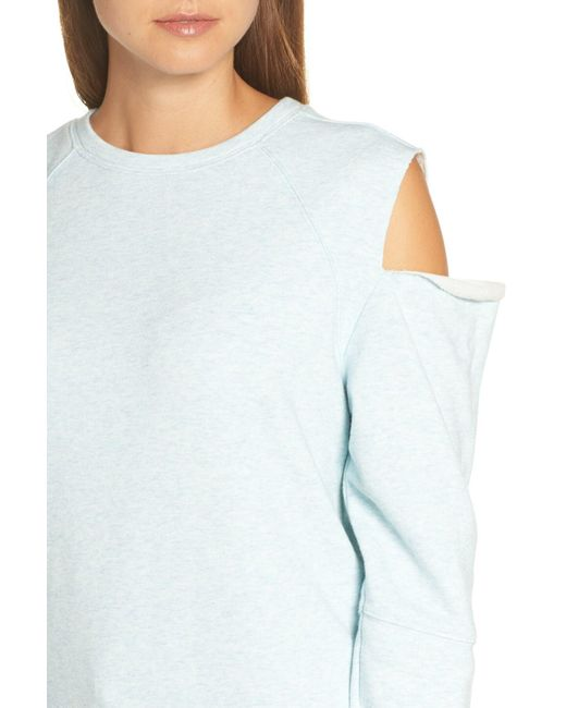 ae888fe90cd Lyst - Zella Tear It Up Cold-shoulder Tunic in Blue - Save ...