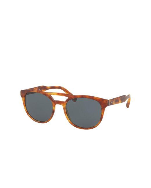 6a8da29165a1 ... Prada - Multicolor 54mm Round Matte Havana Sunglasses for Men - Lyst