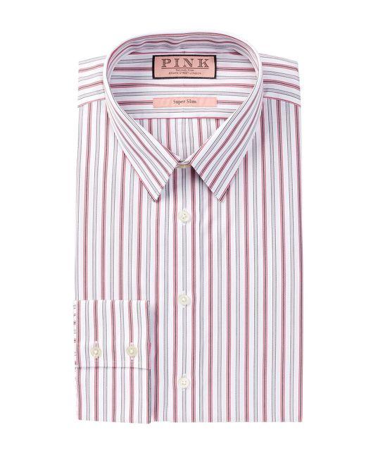 Thomas Pink Povey Long Sleeve Super Slim Fit Dress Shirt