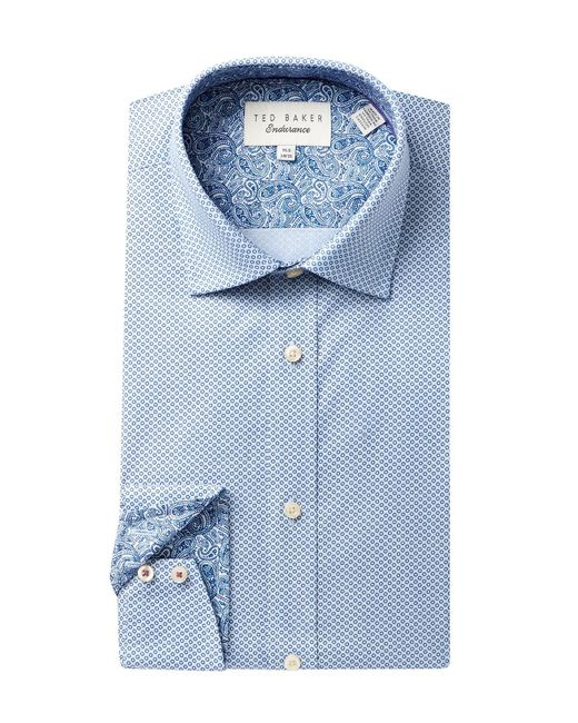 Ted Baker | Blue Endurance Trim Fit Sterling Dress Shirt for Men | Lyst