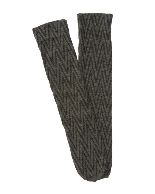 Spanx   Gray Chevron Sweater Socks   Lyst