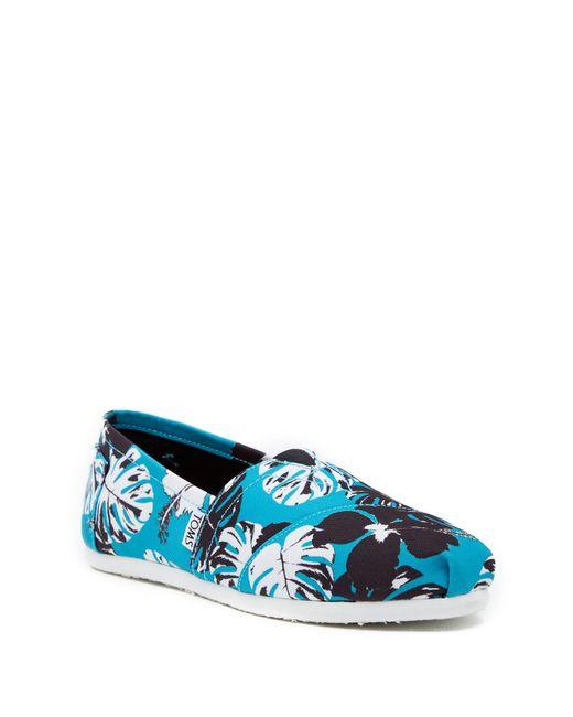 TOMS - Blue Avalon Tropical Slip-on Sneaker - Lyst