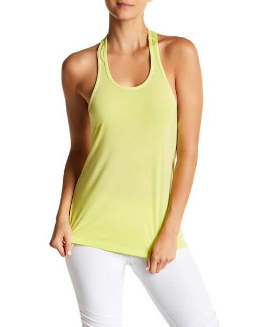 Trina Turk | Yellow Perforated Racerback Tank | Lyst