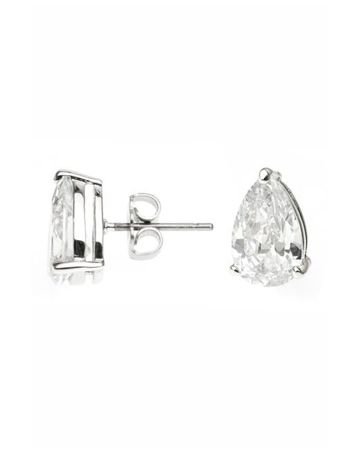 CZ by Kenneth Jay Lane - Metallic Pear Cz Stud Earrings - Lyst