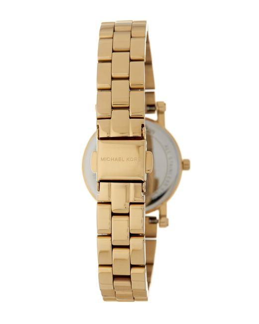 54ca6af747cf ... Lyst MICHAEL Michael Kors - Metallic Women s Petite Norie Analog Quartz  Bracelet Watch
