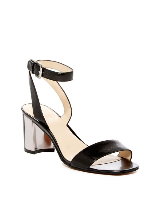 Nine West | Black Tullip Ankle Wrap Sandal | Lyst