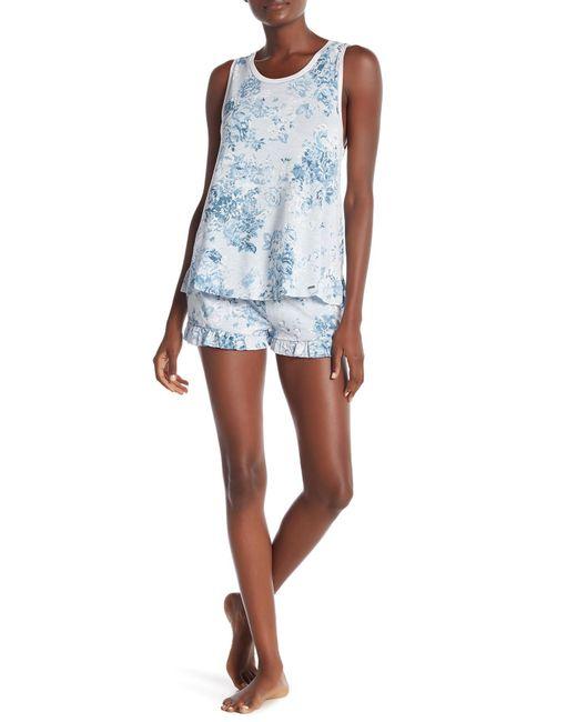 Kensie Blue Printed Pajama Boxers