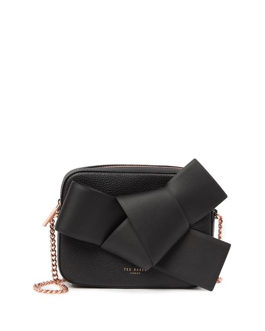 Ted Baker - Black Ammelia Giant Knot Leather Camera Bag - Lyst
