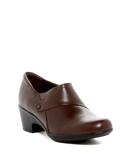 Clarks | Brown Genette Frolic Heeled Loafer - Multiple Widths Available | Lyst