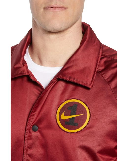 Nike Air Force One Coach Jacket in Red for Men Save 61% Lyst