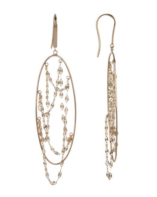 Lana Jewelry | Metallic 14k Yellow Gold Long Thin Oval Earrings | Lyst