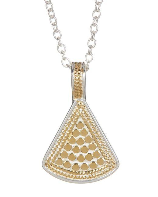 Anna Beck - Metallic Sterling Silver & 18k Gold Reversible Fan Pendant Necklace - Lyst