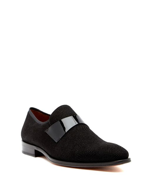 Mezlan - Black Textured Loafer for Men - Lyst