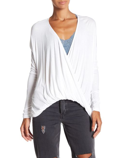 Fifteen Twenty   White Cocoon Ribbed Pullover   Lyst