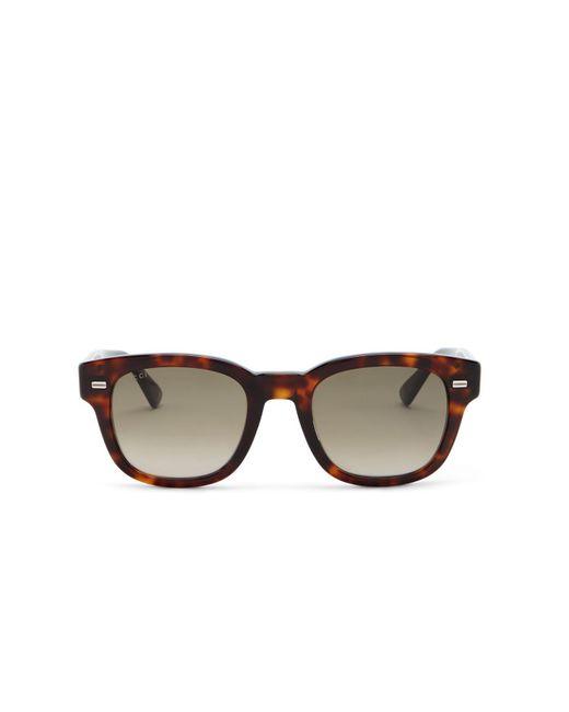 2195e28b55 ... Gucci - Brown 50mm Retro Sunglasses - Lyst ...