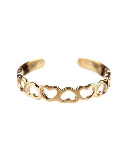 KARAT RUSH | 14k Yellow Gold Cutout Heart Cuff Adjustable Toe Ring | Lyst