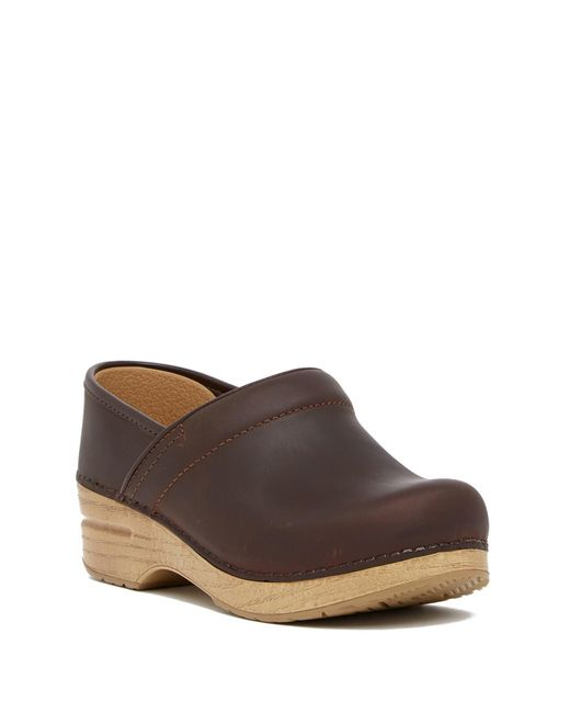 Dansko - Brown Professional Wedge Platform Leather Clog - Lyst