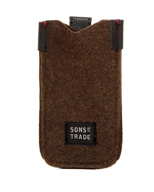 Sons Of Trade | Green Embark Felt Phone Sleeve for Men | Lyst