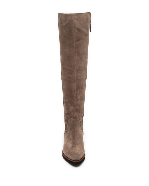 8f628f4c95d ... Franco Sarto - Brown Benner Leather Over-the-knee Boot - Lyst ...