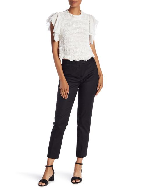 Cece by Cynthia Steffe - Black Double Weave Slim Pants - Lyst