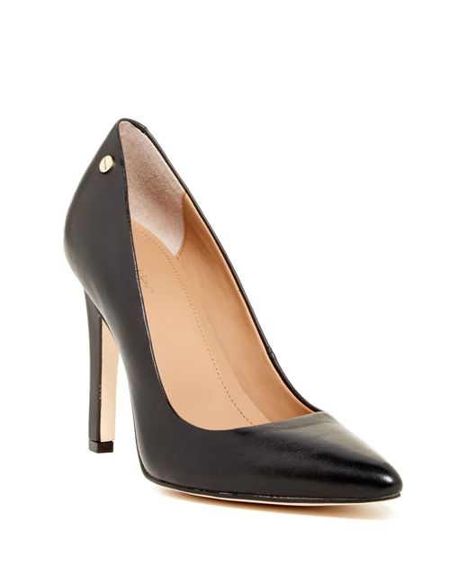 CALVIN KLEIN 205W39NYC - Black Brady Leather Pointed Toe Pump - Wide Width Available - Lyst