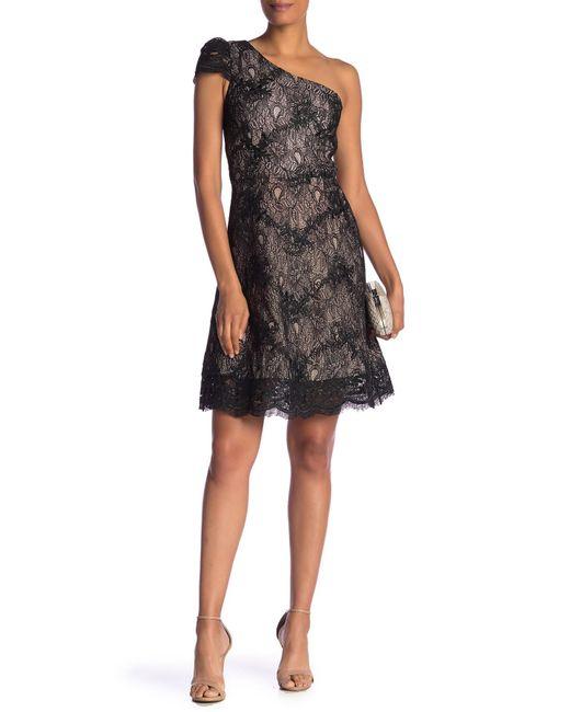 Dress the Population - Black Alex One-shoulder Cocktail Dress - Lyst