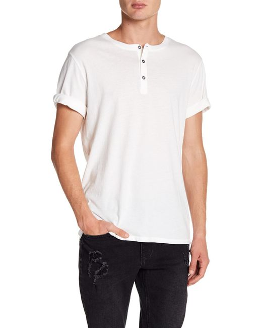 Threads For Thought - White Geoff Henley Organic Cotton Short Sleeve Shirt for Men - Lyst