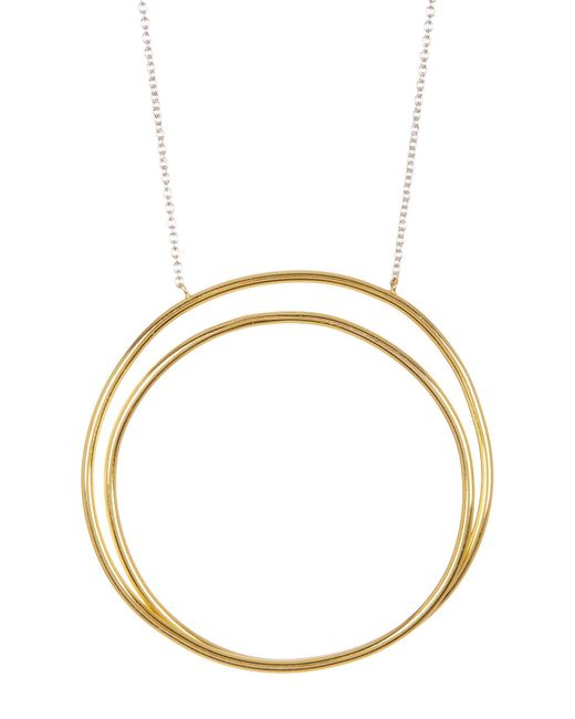 Argento Vivo - Metallic Two-tone Sterling Silver All Around The World Pendant Necklace - Lyst