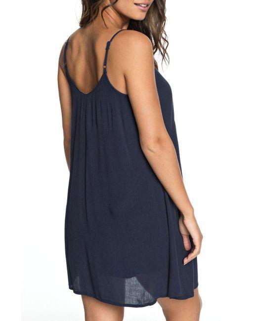 46618eba7a9bf ... Roxy - Blue Full Bloom Swing Dress - Lyst ...