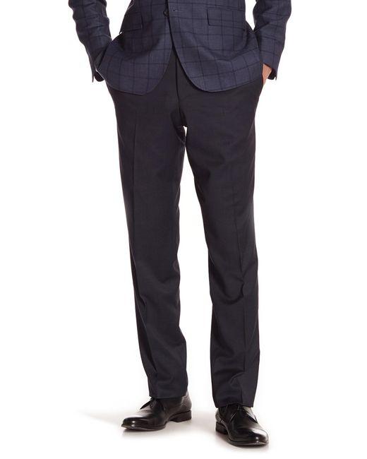 Ted Baker - Black Trim Fit Flat Front Pants for Men - Lyst