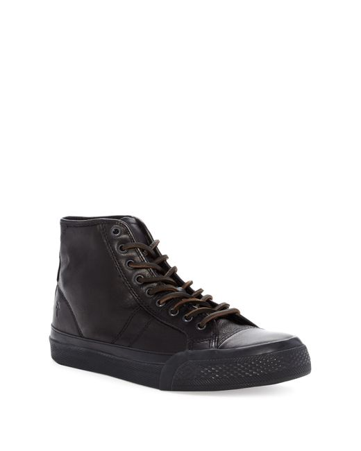 Frye | Black Justin Mid Lace for Men | Lyst
