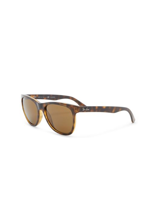 f81d2a8f16 ... Ray-Ban - Brown Wayfarer 54mm Polarized Sunglasses for Men - Lyst
