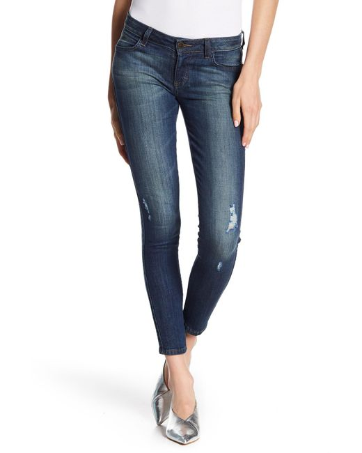 Siwy - Blue Hannah Low Rise Cropped Skinny Jeans - Lyst