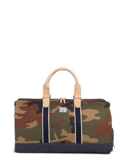 2b78446ba098 Herschel Supply Co. - Multicolor Novel Offset Denim Duffel Bag for Men -  Lyst ...