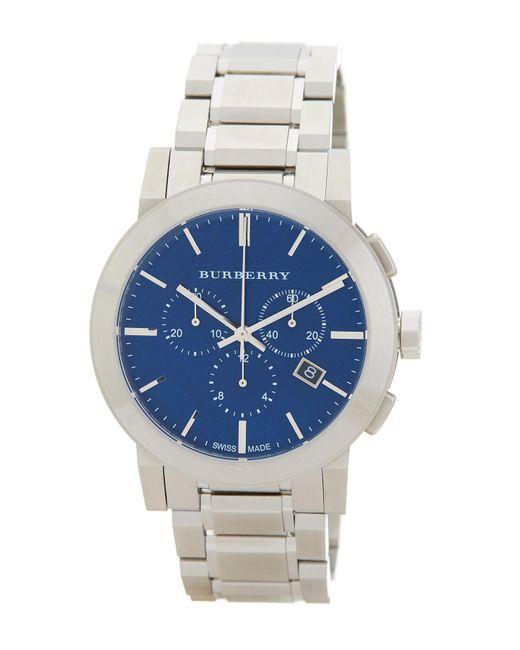 Burberry - Metallic Men's Chronograph Bracelet Watch, 42mm for Men - Lyst