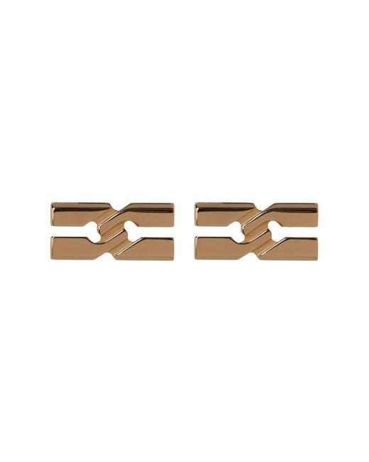 Gucci | Metallic 18k Gold Infinity Stud Earrings | Lyst