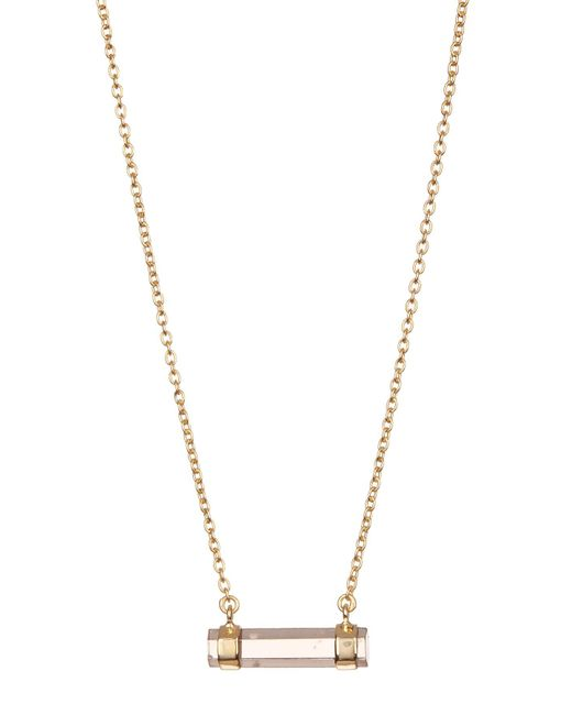 Argento Vivo - Metallic Faceted Smoky Quartz Pendant Necklace - Lyst