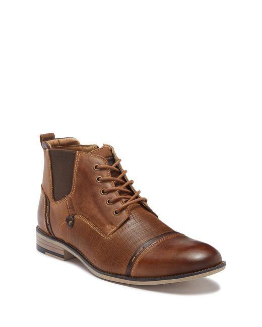 Steve Madden - Brown Kleen Cap Toe Leather Boot for Men - Lyst